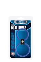 Синее двойное эрекционное кольцо Dual Rings Blue - фото 450640