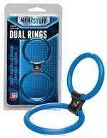 Синее двойное эрекционное кольцо Dual Rings Blue - фото 450638