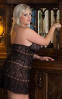 Облегающая сорочка Kate с трусиками-стринг - фото 8630