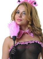 Розовая щеточка горничной - 35 см. - фото 9511