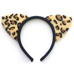 Ободок с леопардовыми ушками - фото 214945