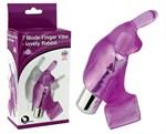 Фиолетовая вибронасадка на пальцы 7 Model Finger Vibe-lovely Rabbit - фото 214961