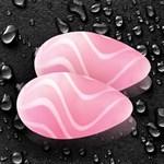 Розовые стеклянные вагинальные шарики CRYSTAL KEGEL EGGS - фото 215501