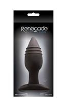 Средняя черная анальная пробка RENEGADE PLUG 4 - 12 см. - фото 134470