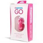 Розовый клиторальный стимулятор Sqweel Go Pink - фото 450883