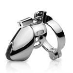 Металлическое кольцо верности Chastity Head Cage с фиксацией головки - фото 241086