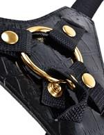 Чёрный с золотом женский страпон Designer Strap-On - фото 77969