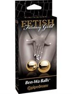Вагинальные шарики Ben-Wa Balls золотистого цвета - фото 1146050
