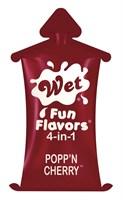 Разогревающий лубрикант Fun Flavors 4-in-1 Popp n Cherry с ароматом вишни - 10 мл. - фото 527071