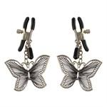 Зажимы на соски с бабочками Butterfly Nipple Clamps - фото 9184