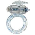 Эрекционное виброкольцо Flutter-ring Vibrating Ring Clear - фото 527090