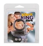 Дымчатое эрекционное виброкольцо Vibro Ring Dark - фото 1146265