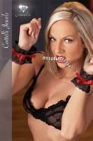 Кружевные наручники Handfessel Strass со стразами - фото 713938