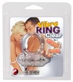 Прозрачное эрекционное виброкольцо Vibro Ring Clear - фото 92615