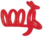 Красная рельефная насадка на пенис Funny Kangaroo - фото 210118