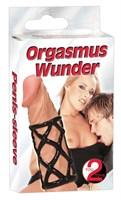Чёрная насадка-сетка на пенис Orgasmus Wunder - фото 1514123