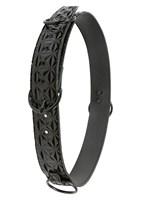 Чёрный ремень на пояс для фиксации манжет Sinful Black Restraint Belt Large - фото 558545
