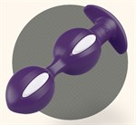 Фиолетово-белые анальные шарики B Balls Duo - 12,5 см. - фото 1146391