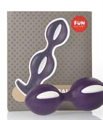 Фиолетово-белые анальные шарики B Balls Duo - 12,5 см. - фото 1146394