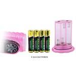Розовый вибратор хай-тек Hot Baby - 26,5 см. - фото 527507