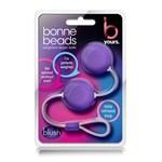 Фиолетовые вагинальные шарики Bonne Beads - фото 1284533