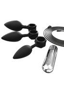 Набор из 3 анальных плагов и вибропули Bathmate Anal Training Plugs VIBE - фото 1687161