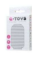 Белый мастурбатор A-Toys Pocket Stripy - фото 1186561