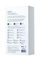Синяя анальная вибровтулка OPlay Unico с пультом ДУ - 13,5 см. - фото 1186613