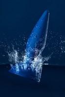 Синяя анальная вибровтулка OPlay Unico с пультом ДУ - 13,5 см. - фото 1186618