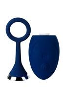 Синяя анальная вибровтулка OPlay Unico с пультом ДУ - 13,5 см. - фото 1186609