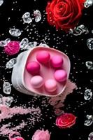 Набор из 6 розовых вагинальных шариков Eromantica K-ROSE - фото 250803