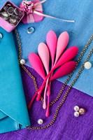 Набор из 6 розовых вагинальных шариков Eromantica K-ROSE - фото 250805