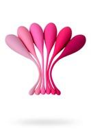 Набор из 6 розовых вагинальных шариков Eromantica K-ROSE - фото 250793