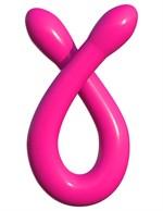 Розовый двусторонний гибкий фаллоимитатор Double Whammy - 43,8 см. - фото 222918