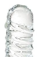 Стеклянный прозрачный фаллоимитатор Sexus Glass - 21 см. - фото 226473