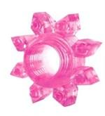 Розовое эрекционное кольцо Cockring star - фото 253686