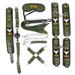 Набор в армейской тематике: наручники, оковы, ошейник с поводком, кляп, маска, плеть, фиксатор - фото 46081