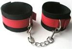 Черно-красные оковы с карабинами Notabu - фото 1174717
