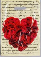 Подарочный пакет  Сердце из роз  - 30 х 40 см. - фото 370104