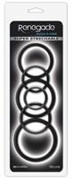 Набор черных эрекционных колец  Build A Cage Rings - фото 170140