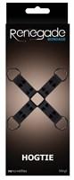Черная крестообразная связка Bondage Hogtie - фото 170154