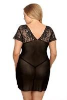 Прозрачная сорочка Marina с кружевным лифом - фото 1209212