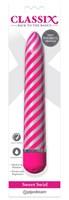 Розовый вибратор Sweet Swirl Vibrator - 21,3 см. - фото 1292123
