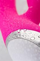 Розовый силиконовый вибратор с клиторальным стимулятором LIA - 19 см. - фото 47641