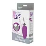 Фиолетовое перезаряжаемое виброяйцо Remote Duo Pleasure - фото 1692721