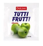 Пробник гель-смазки Tutti-frutti с яблочным вкусом - 4 гр. - фото 189507