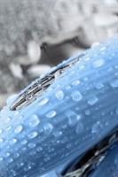 Голубой силиконовый вибратор с электростимуляцией TESLA G-POINT - 21 см. - фото 49282