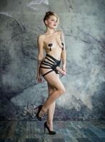 Черные трусики для страпона Roughly - размер S-M - фото 49624