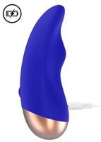 Синий вибратор Chic для клиторальной стимуляции - фото 1265947