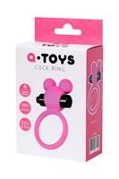 Розовое виброкольцо на пенис A-Toys - фото 1699363